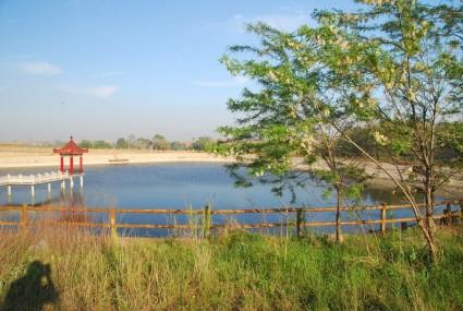 大连普兰店市 大刘家镇 1000亩 荒山 养殖用地 大棚 水塘 住房 生态庄园 转让 1600万元